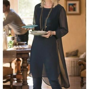 SOFT SURROUNDINGS black relaxed elegance tunic S